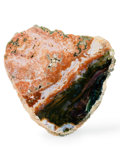 Lapidary Art:Carvings, Polished Ocean Jasper. Madagascar. 7.68 x 7.36 x 0.39 inches(19.50 x 18.70 x 1.00 cm). ...
