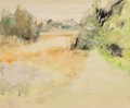 Fine Art - Work on Paper, Jane Freilicher (American, 1924). Tawny Fields, 1963.Watercolor on paper. 14 x 16-3/4 inches (35.6 x 42.5 cm) (sheet)....