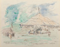 Fine Art - Work on Paper:Drawing, Reynolds Beal (American, 1867-1951). Gorman Bros,Gloucester, 1936. Watercolor and pencil on paper. 10-3/4 x13-5/8 inch...
