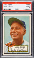 Baseball Cards:Singles (1950-1959), 1952 Topps Jake Pitler #395 PSA Mint 9 - Pop Five, One Higher....