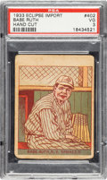 Baseball Cards:Singles (1930-1939), 1933 R337 Eclipse Import Babe Ruth #402 PSA VG 3....