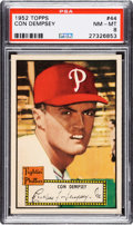 Baseball Cards:Singles (1950-1959), 1952 Topps Con Dempsey #44 (Red Back) PSA NM-MT 8 - Only OneHigher....