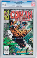 Modern Age (1980-Present):Miscellaneous, Conan the Barbarian #213 (Marvel, 1988) CGC NM/MT 9.8 White pages....