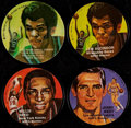 Basketball Cards:Lots, 1971 Mattel Instant Replay Records Quartet (4) With Two Alcindor's,West & Reed....