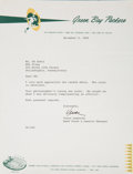 Football Collectibles:Others, 1966 Vince Lombardi Signed Letter to Ed Sabol....