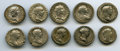 Ancients:Ancient Lots , Ancients: ROMAN EMPIRE: Trajan (AD 98-117). Lot of ten (10) ARdenarii. Fine-Nearly VF.... (Total: 10 coins)