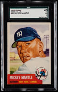 Baseball Cards:Singles (1950-1959), 1953 Topps Mickey Mantle #82 SGC 40 VG 3....