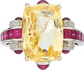 Estate Jewelry:Rings, Yellow Sapphire, Ruby, Diamond, Platinum, Gold Ring . ...