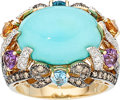 Estate Jewelry:Rings, Multi-Stone, Colored Diamond, Diamond, Gold Ring, LeVian. ...