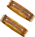 Estate Jewelry:Bracelets, Victorian Gold Bracelets. ... (Total: 2 Items)