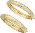 Estate Jewelry:Bracelets, Gold Bracelets . ... (Total: 2 Items)