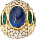 Estate Jewelry:Rings, Sapphire, Diamond, Emerald, Gold Ring . ...