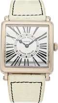 Estate Jewelry:Watches, Franck Muller Lady's White Gold Automatic Master Square MiroirWatch. ...