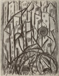 Fine Art - Work on Paper:Drawing, Attributed to Abraham Walkowitz (American, 1880-1965).Cityscape. Charcoal on paper. 18-3/4 x 14-1/4 inches (47.6 x36.2...