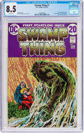 Bronze Age (1970-1979):Horror, Swamp Thing #1 (DC, 1972) CGC VF+ 8.5 White pages....