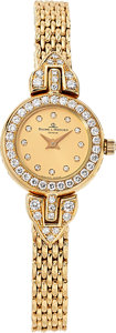 Estate Jewelry:Watches, Baume & Mercier Lady's Diamond, Gold Watch . ...