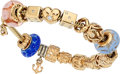 Estate Jewelry:Bracelets, Diamond, Glass, Gold, Sterling Silver Bracelet, Pandora. ...