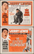 """Movie Posters:Comedy, The Delicate Delinquent & Others Lot (Paramount, R-1962). HalfSheets (4) (22"""" X 28""""). Comedy.. ... (Total: 4 Items..."""