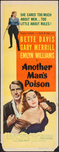 "Movie Posters:Crime, Another Man's Poison (United Artists, 1952). Insert (14"" X 36"").Crime.. ..."