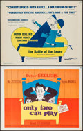 """Movie Posters:Comedy, Only Two Can Play & Other Lot (Kingsley-International, 1962).Half Sheet (22"""" X 28""""). Comedy.. ... (Total: 2 Items)"""