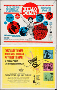 """Funny Girl & Others Lot (Columbia, 1968). Half Sheets (3) (22"""" X 28""""). Musical. ... (Total: 3 Items)"""