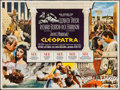 "Movie Posters:Drama, Cleopatra (20th Century Fox, 1963). British Quad (30"" X 40"").Drama.. ..."
