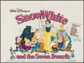 "Movie Posters:Animation, Snow White and the Seven Dwarfs (Walt Disney Productions, R-1975). Flat Folded British Quad (30"" X 40""). Animation.. ..."