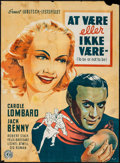 "Movie Posters:Comedy, To Be or Not to Be (Constantin Films, 1946). 1st Release DanishPoster (24"" X 33""). Comedy.. ..."