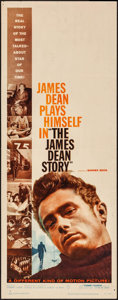 "Movie Posters:Documentary, The James Dean Story (Warner Brothers, 1957). Insert (14"" X 36"").Documentary.. ..."