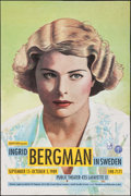 "Movie Posters:Miscellaneous, Ingrid Bergman (Film Public, 1989). Swedish Film Festival Poster(24"" X 36""). Miscellaneous.. ..."