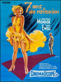 "Movie Posters:Comedy, The Seven Year Itch (20th Century Fox, R-1980s). French Grande (46""X 62""). Comedy.. ..."