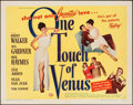 """Movie Posters:Comedy, One Touch of Venus (Universal International, 1948). Half Sheet (22""""X 28"""") Style B. Comedy.. ..."""