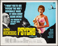 "Movie Posters:Hitchcock, Psycho (Paramount, R-1969). Half Sheet (22"" X 28""). Hitchcock.. ..."