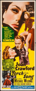 "Movie Posters:Romance, Torch Song (MGM, 1953). Insert (14"" X 36""). Romance.. ..."