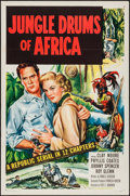 "Movie Posters:Serial, Jungle Drums of Africa (Republic, 1952). One Sheet (27"" X 41"").Serial.. ..."
