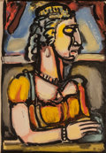 Fine Art - Work on Paper:Print, Georges Rouault (1871-1958). Saint Pute pl 13 from Passion,1939. Aquatint in colors. 12 x 8-1/4 inches (30.5 x 21.0 cm)...