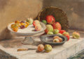 Fine Art - Painting, American:Modern  (1900 1949)  , P. Janssen (20th Century). Still Life with Fruit, 1942. Oilon canvas. 19-1/2 x 27-1/2 inches (49.5 x 69.9 cm). Signed a...