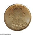 1804 1/2 C Plain 4, No Stems MS64 Brown PCGS. B-10, C-13, R.1. Light brown color illuminates LIBERTY and the upper two t...