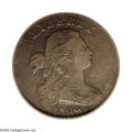Large Cents: , 1799 1C Fine 15 PCGS. S-189, High R.2. The 1799 is the rarest datewithin the Large Cent series. Although three die marriag...