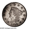 Large Cents: , 1823 1C Silver Restrike. PR64 NGC. The earliest known reference to the Restrike large cents of 1823 dates to November 1862,...