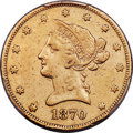 Liberty Eagles, 1870-CC $10 -- Cleaning -- PCGS Genuine. XF Details. Variety 1-B....