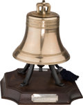 Decorative Arts, British:Other , A Bronze Replica of the Liberty Bell Cast by the Whitechapel BellFoundry. 15 h x 12-1/2 w x 12-1/2 d inches (38.1 x 31.8 x ...