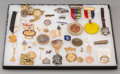 Decorative Arts, Continental:Other , Thirty-Five Various Gold and Mixed Media Pins and Badges withAutomobile, Aviation, and Rowing Motifs, early 20th century an...(Total: 2 Items)