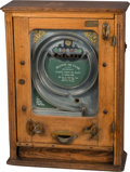Decorative Arts, Continental:Other , An Allwin de Luxe Penny Bankteller's Wall Coin Machine Game, early20th century. 27-1/2 h x 20-1/8 w x 7-5/8 d inches (69.9 ...