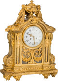 Clocks & Mechanical:Clocks, A Louis XVI-Style Gilt Bronze Mantel Clock, late 19th century. Marks to clock face: Lerolle Freren, A Paris. Marks to mo...