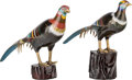 Asian:Chinese, A Pair of Chinese Cloisonné Pheasants, 20th century. 16-3/4 incheshigh (42.5 cm) (taller). ... (Total: 2 Items)