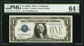 Small Size:Silver Certificates, Fr. 1601* $1 1928A Silver Certificate. PMG Choice Uncirculated 64 EPQ.. ...