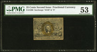 Fr. 1286 25¢ Second Issue PMG About Uncirculated 53