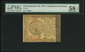 Colonial Notes:Continental Congress Issues, Continental Currency September 26, 1778 $40 PMG Choice About Unc 58EPQ.. ...