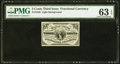 Fractional Currency:Third Issue, Fr. 1226 3¢ Third Issue PMG Choice Uncirculated 63 EPQ.. ...